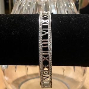 QVC Jewelry - Epiphany Diamonique Roman Numeral Bangle